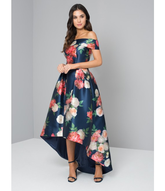 KERRIS PRINTED BARDOT MIDI DRESS 8-16