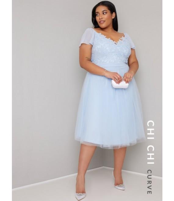 bbba7dd340e0 CAP SLEEVE TEA DRESS Chi Chi Curve Seda Dress - Wedding Guest Dresses