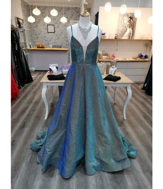 Grace Ball Gown Emerald Silver