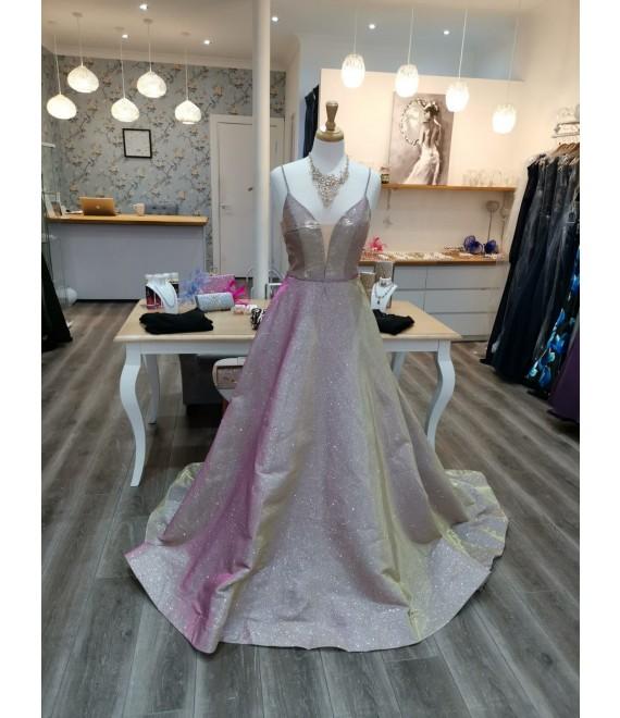 Grace Ball Gown Blush Silver Gold