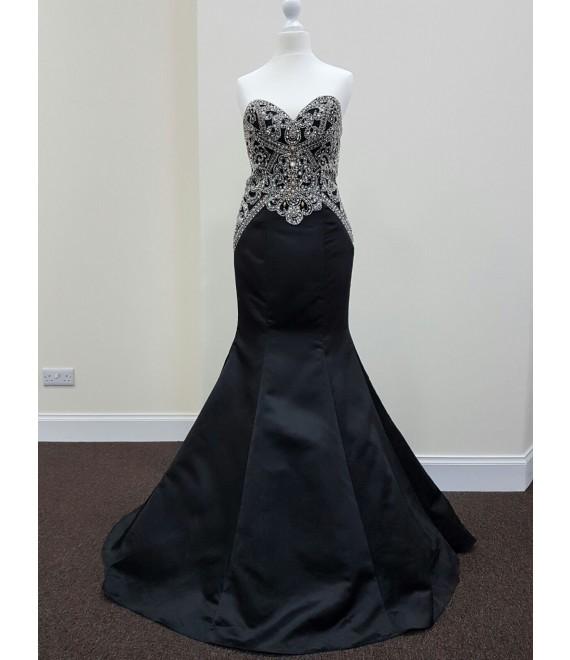 Malina Long Dress Black - 1