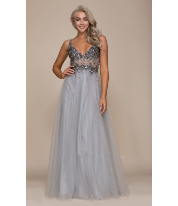 Lilo Gown Silver