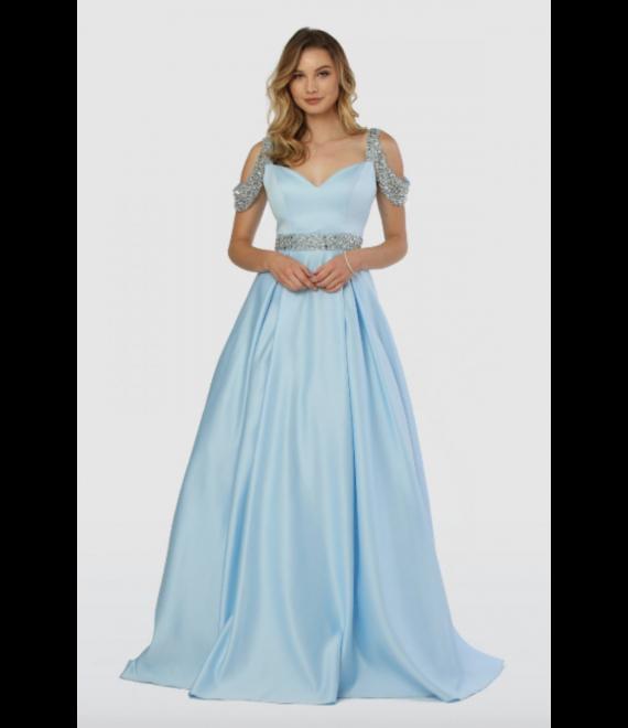 Lucy Ball Gown Light Blue