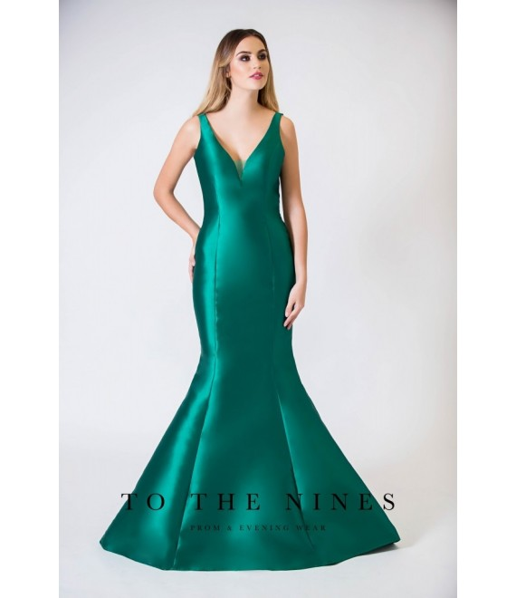 Madison Mermaid Style Gown detailed open back Jade