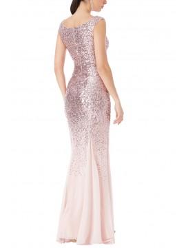 Rose Sequined Chiffon Maxi Dress Size 8-16uk