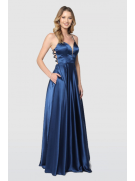 Rosa Gown Navy