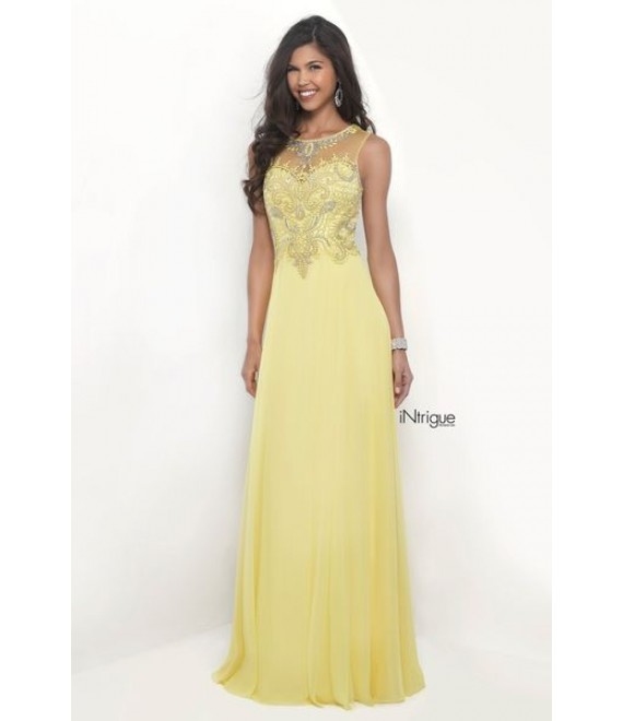 90d4d4cf1fd Style 273- Maxi Dress Fully Embellished Top in Yellow