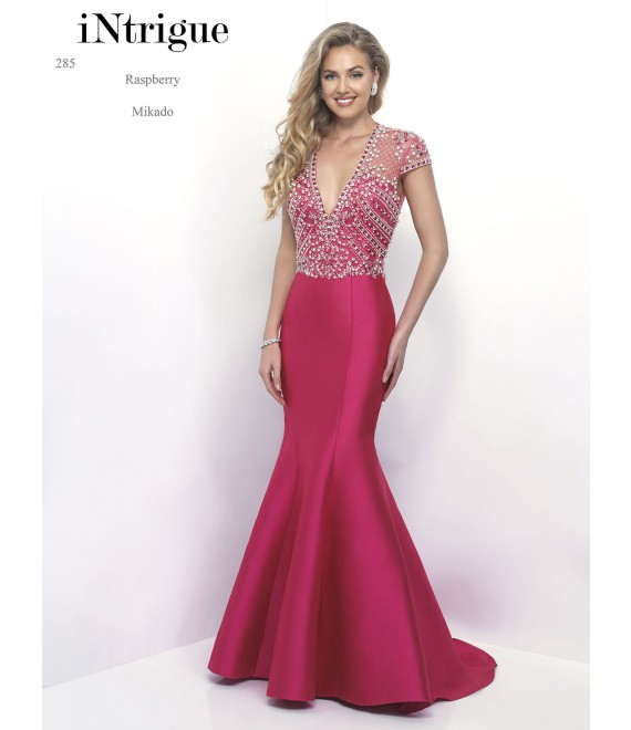 Style 285 Long Dress Raspberry - 1