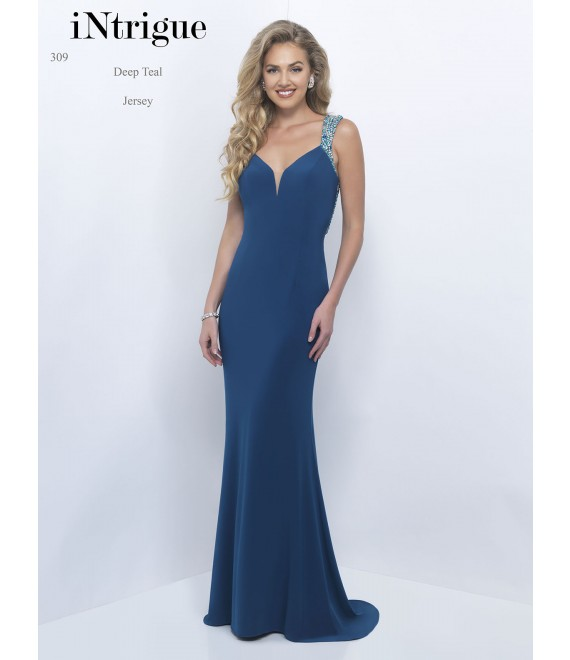 Style 309 Long Dress Deep Teal - 1