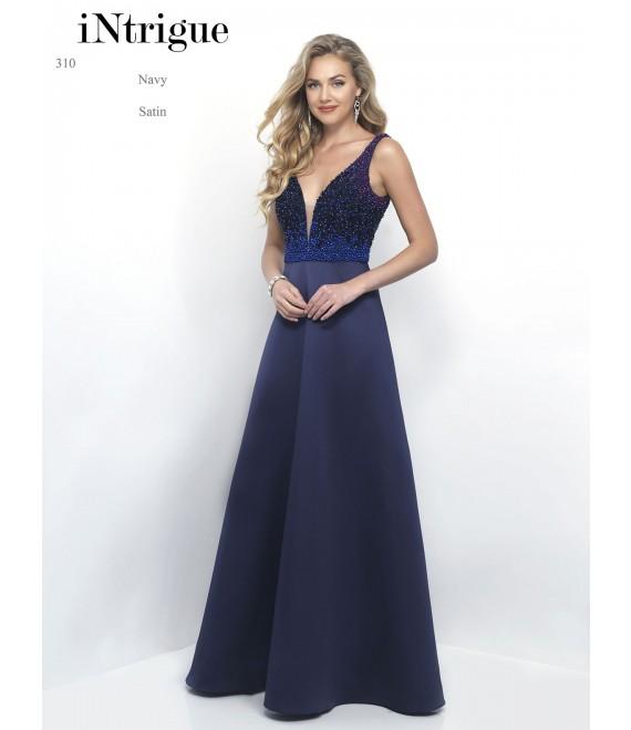 Style 310 Long Dress Navy - 1