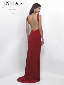 Style 299 Sweetheart Open-Back Jersey Long Dress In Black