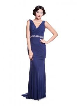 Emily Dress In Slate Blue