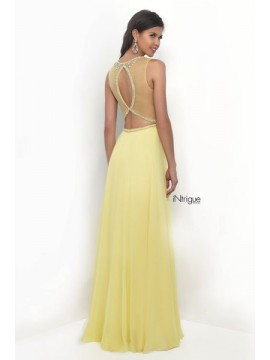 Style 273- Maxi Dress Fully Embellished Top in Yellow 08